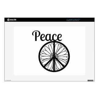 Flor del signo de la paz portátil skins