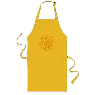 Flor del símbolo de paz - amarillo delantal largo