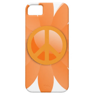 Flor del símbolo de paz - naranja de Cantelope Funda Para iPhone 5 Barely There