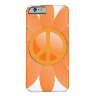 Flor del símbolo de paz - naranja de Cantelope Funda Para iPhone 6 Barely There
