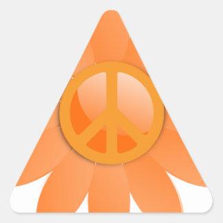 Flor del símbolo de paz - naranja de Cantelope Colcomanias Trianguladas
