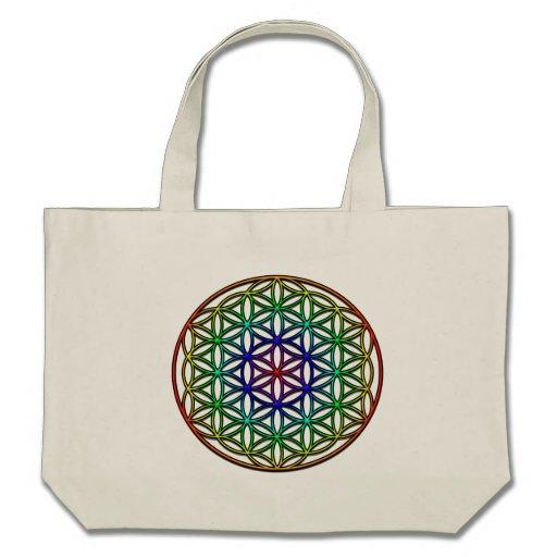 Flor del símbolo sagrado de la geometría de la vid bolsas de mano