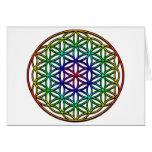 Flor del símbolo sagrado de la geometría de la vid tarjeton