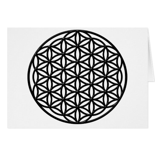 Flor del símbolo sagrado de la geometría de la vid felicitación