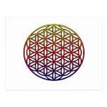 Flor del símbolo sagrado de la geometría de la vid tarjeta postal