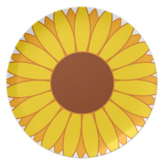 Flor del sol platos para fiestas