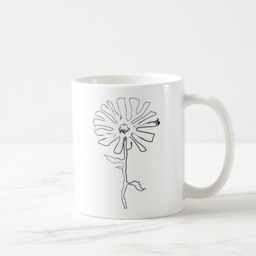 flor del squiggle taza básica blanca