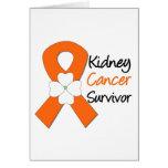 Flor del superviviente del cáncer del riñón felicitacion