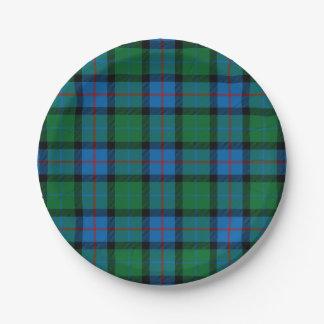 Flor del tartán del nacional de Escocia Plato De Papel De 7 Pulgadas