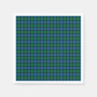 Flor del tartán del nacional de Escocia Servilletas Desechables