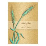 Flor del trigo del boda del oro de la aguamarina comunicados