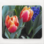 Flor del Tulipán-UNo del amor Alfombrilla De Ratón