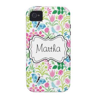 Flor del vector floral Case-Mate iPhone 4 fundas