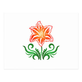 Flor del vector: tarjetas postales
