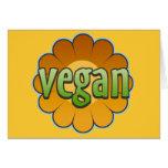 Flor del vegano tarjetón
