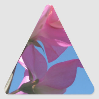 Flor del verano pegatina triangular