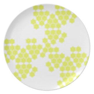 flor del verano separado - amarillo plato de comida