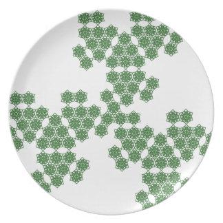 flor del verano separado - verde plato de cena