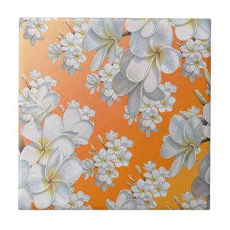 Flor del vintage azulejo cuadrado pequeño