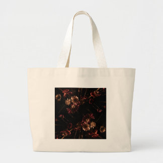 flor del vintage bolsa tela grande