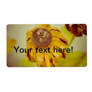 Flor del vintage etiqueta de envío