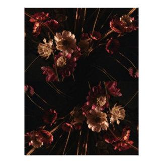 flor del vintage plantillas de membrete