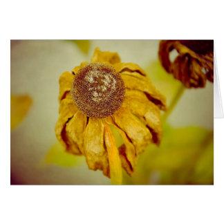 Flor del vintage felicitacion