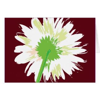 Flor del vintage tarjeta de felicitación