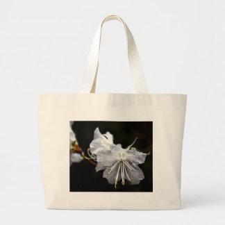 Flor delicada bolsa tela grande