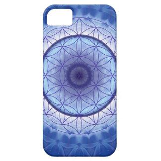 Flor desLebens azul Funda Para iPhone 5 Barely There