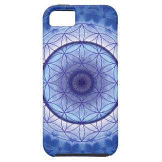 Flor desLebens azul iPhone 5 Carcasas
