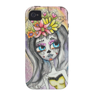 Flor, Dia De Los Muertos I-Phone Case iPhone 4/4S Cases