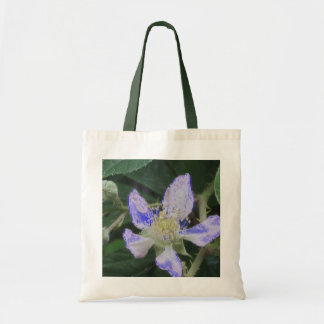Flor digital azul bolsa