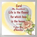 Flor dulce del amor, personalizar del _del poster