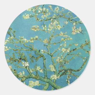 Flor el | 1890 de la almendra de Van Gogh el | Pegatina Redonda