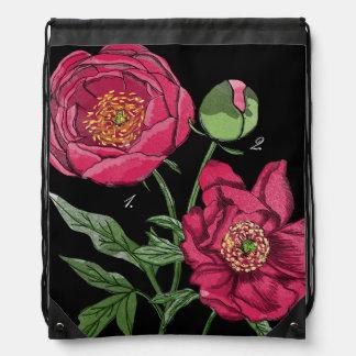 Flor el | rosada botánica del Peony Mochilas