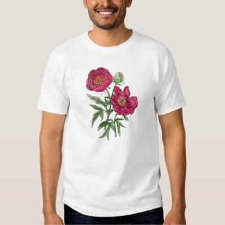 Flor el   rosada botánica del Peony Playeras