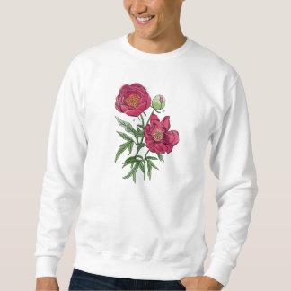 Flor el   rosada botánica del Peony Sudaderas