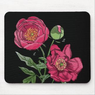Flor el | rosada botánica del Peony Alfombrilla De Ratón