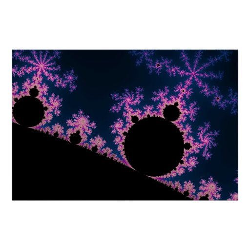 Flor eléctrico - poster del fractal