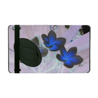 Flor elegante azul iPad carcasa