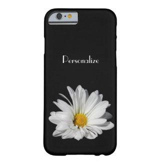 Flor elegante de la margarita blanca con nombre funda de iPhone 6 barely there