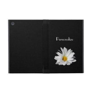 Flor elegante de la margarita blanca con nombre iPad mini cobertura