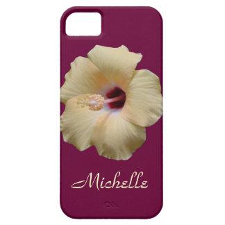 Flor elegante del hibisco iPhone 5 Case-Mate protector