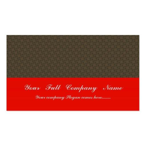Flor elegante del marrón oscuro con los pétalos on tarjetas de negocios