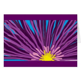 Flor en aceite tarjeta pequeña