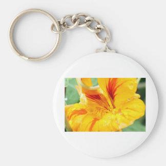 Flor en amarillo llavero personalizado