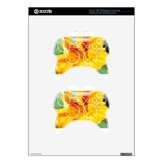 Flor en amarillo mando xbox 360 calcomanía