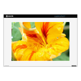 Flor en amarillo skins para 38,1cm portátiles