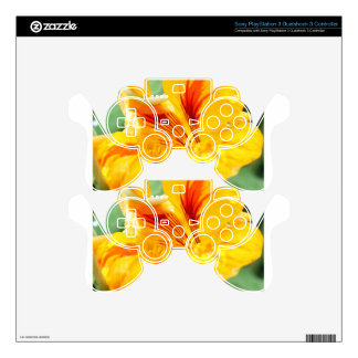 Flor en amarillo skins para mando PS3